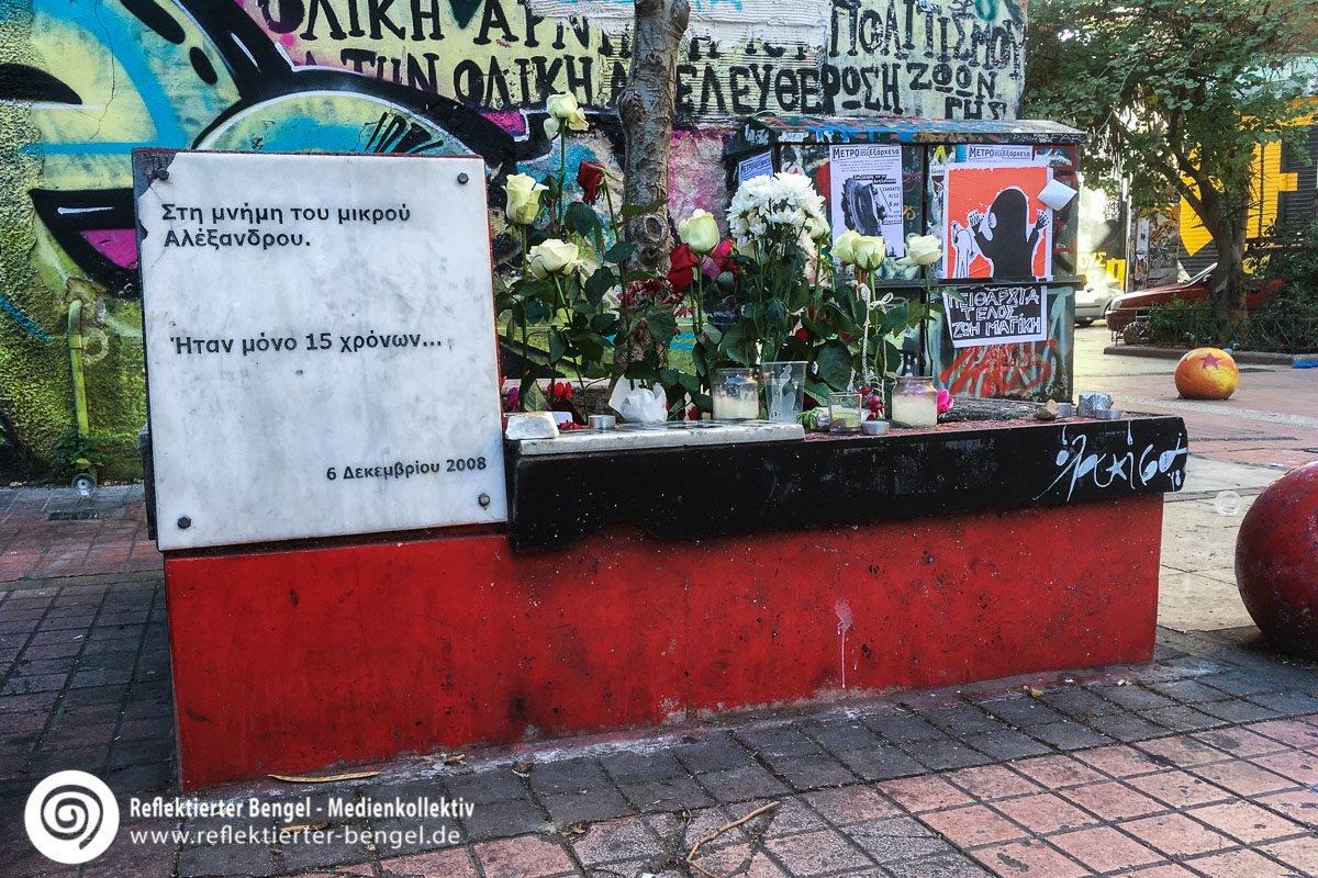 06.12.18 Athen - Gedenktafel für Alexandros Grigoropoulos